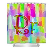 Colorful Texturized Alphabet Rr Shower Curtain
