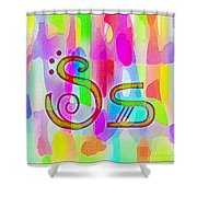 Colorful Texturized Alphabet Ss Shower Curtain