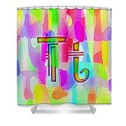 Colorful Texturized Alphabet Tt Shower Curtain