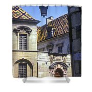 Colorful Tiled Rooftops Shower Curtain