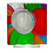 Colorful Toilet Seats Shower Curtain