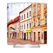 Colorful Town Homes Shower Curtain