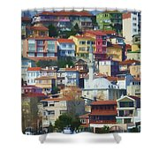 Colorful Town Shower Curtain