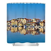 Colorful Town Of Tribunj Waterfront Shower Curtain