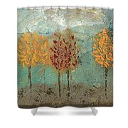 Colorful Trees Shower Curtain