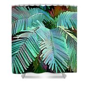 Colorful Tropical Leaves In The Jungle Shower Curtain