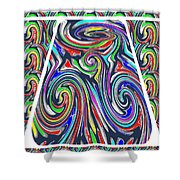 Colorful Twirl Wave Shield Design Background Designs  And Color Tones N Color Shades Available For D Shower Curtain