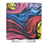 Colorful Urban Street Art From Singapore Shower Curtain