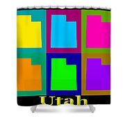 Colorful Utah State Pop Art Map Shower Curtain