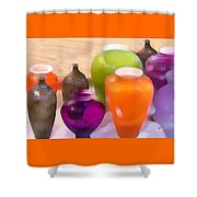 Colorful Vases I - Still Life Shower Curtain