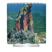 105830-colorful Volcanic Plug Shower Curtain