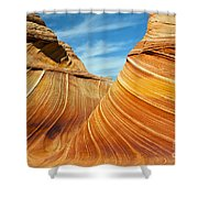 Colorful Waves Shower Curtain