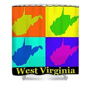 Colorful West Virginia Pop Art Map Shower Curtain