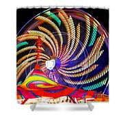 Colorful Wheel Of Lights Shower Curtain