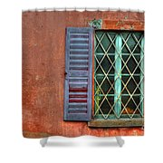 Colorful Window Shower Curtain
