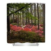 Colorful Woodland Azalea Garden Shower Curtain