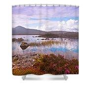 Colorful World Of Rannoch Moor. Scotland Shower Curtain