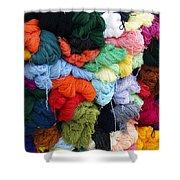 Colorful Yarn Otavalo Market Ecuador Shower Curtain