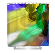 Coloring Bottles Shower Curtain