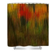 Coloring The Woods Shower Curtain