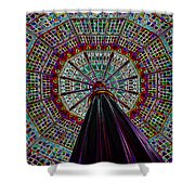 Colorized Dome Shower Curtain