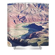 Colorodo River Flowing Through The Grand Canyon Shower Curtain