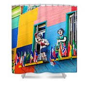 Colors And Statues Shower Curtain
