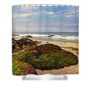 Colors And Texures Of The California Coast Shower Curtain