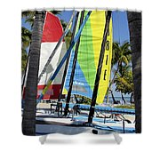 Key West Sail Colors Shower Curtain
