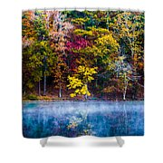 Colors In Early Morning Fog Shower Curtain by Parker Cunningham