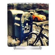 Colors In Snow Shower Curtain
