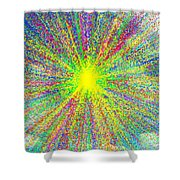 Colors In The Sky Shower Curtain
