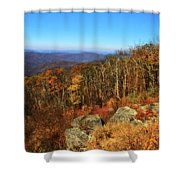 Colors Of Autumn In Shenandoah National Park Shower Curtain