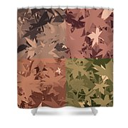 Colors Of Fall Leaves Abstract Shower Curtain