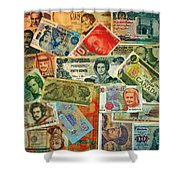 Colors Of Money Shower Curtain
