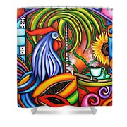 Colors Of My World Shower Curtain