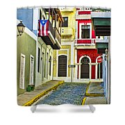 Colors Of Old San Juan Puerto Rico Shower Curtain
