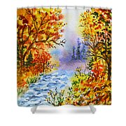 Colors Of Russia Autumn  Shower Curtain by Irina Sztukowski