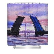 Colors Of Russia Bridges Of Saint Petersburg Shower Curtain