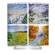 Colors Of Russia Four Seasons Shower Curtain