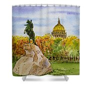 Colors Of Russia Monuments Of Saint Petersburg Shower Curtain