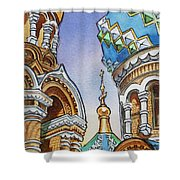 Colors Of Russia St Petersburg Cathedral II Shower Curtain