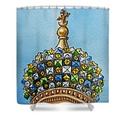 Colors Of Russia St Petersburg Cathedral IIi Shower Curtain by Irina Sztukowski