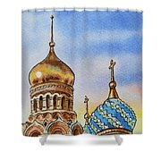 Colors Of Russia St Petersburg Cathedral Iv Shower Curtain by Irina Sztukowski
