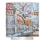 Colors Of Russia Winter In Saint Petersburg Shower Curtain