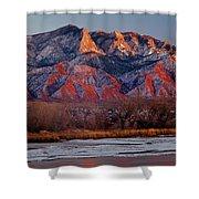 214501-colors Of Sandia Crest  Shower Curtain