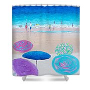 Colors Of Summer Beach Painting Shower Curtain