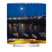 Cala Corb In Es Castell - Minorca - Colors Of The Moonlight   Shower Curtain