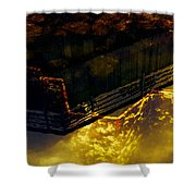 Colors Of The Sound Gold Shower Curtain