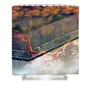 Colors Of The Sound Orange Shower Curtain